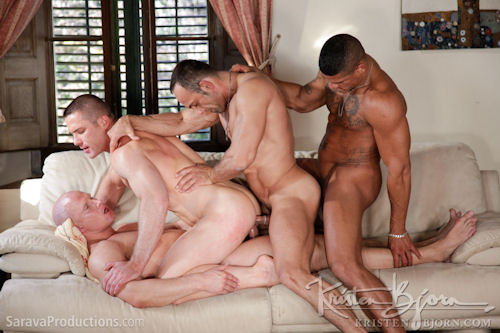 "double penetration gay porn Jul 2016  Lucas Entertainment's sex-crazed men are ""Fully Loaded"" in the third installment  of ""Raw Double Penetrations""."